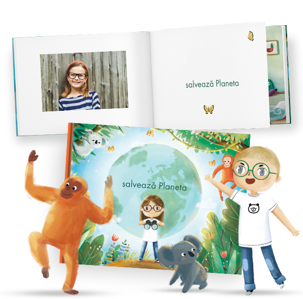 Cărți personalizate cu povești pentru copii unde ei sunt eroii din carte.