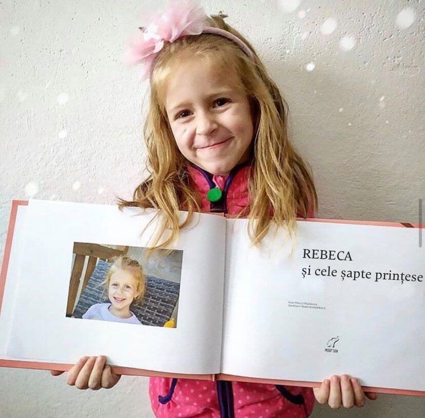 carti personalizate pentru copii editura Elefantul Meu - Rebeca si cele șapte prințese