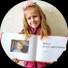 carte personalizată 7 prințese fetițe