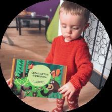 carte acordeon personalizată pentru copii
